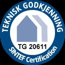 SINTEF Byggforsk Teknisk godkjenning 20611 for Membra Isola Våtromsystem